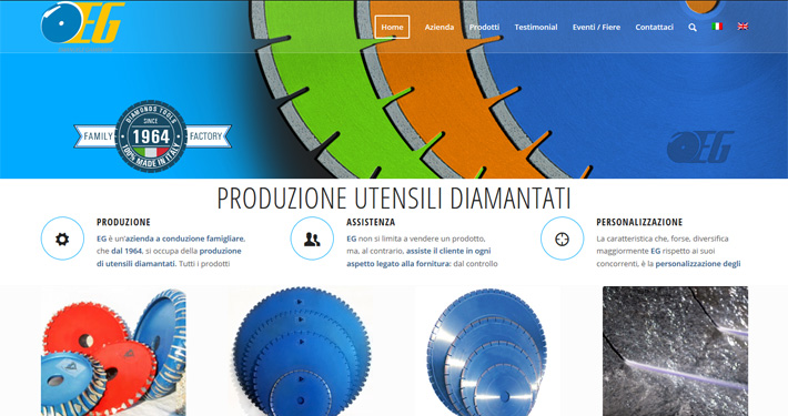 Produzione utensili diamantati